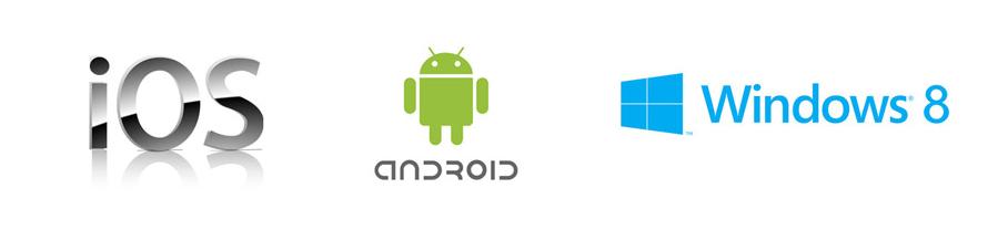 iOS Android Windows 8 Betriebssysteme für Tablets